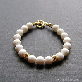WHITE CLOUDS bracelet