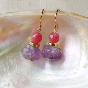 PEONY - gemstone earrings