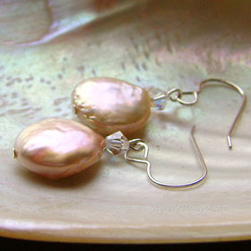 REEF - coin pearl earrings