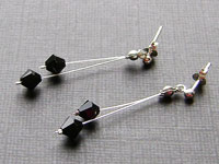 GIO - Black Earrings - Swarovski