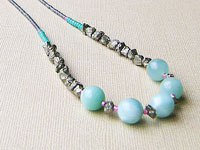 CLAIR - gemstone necklace