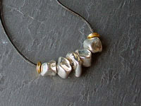 GAIA - mixed metal necklace