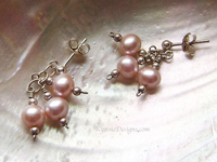 TRIPLET PEARL earrings